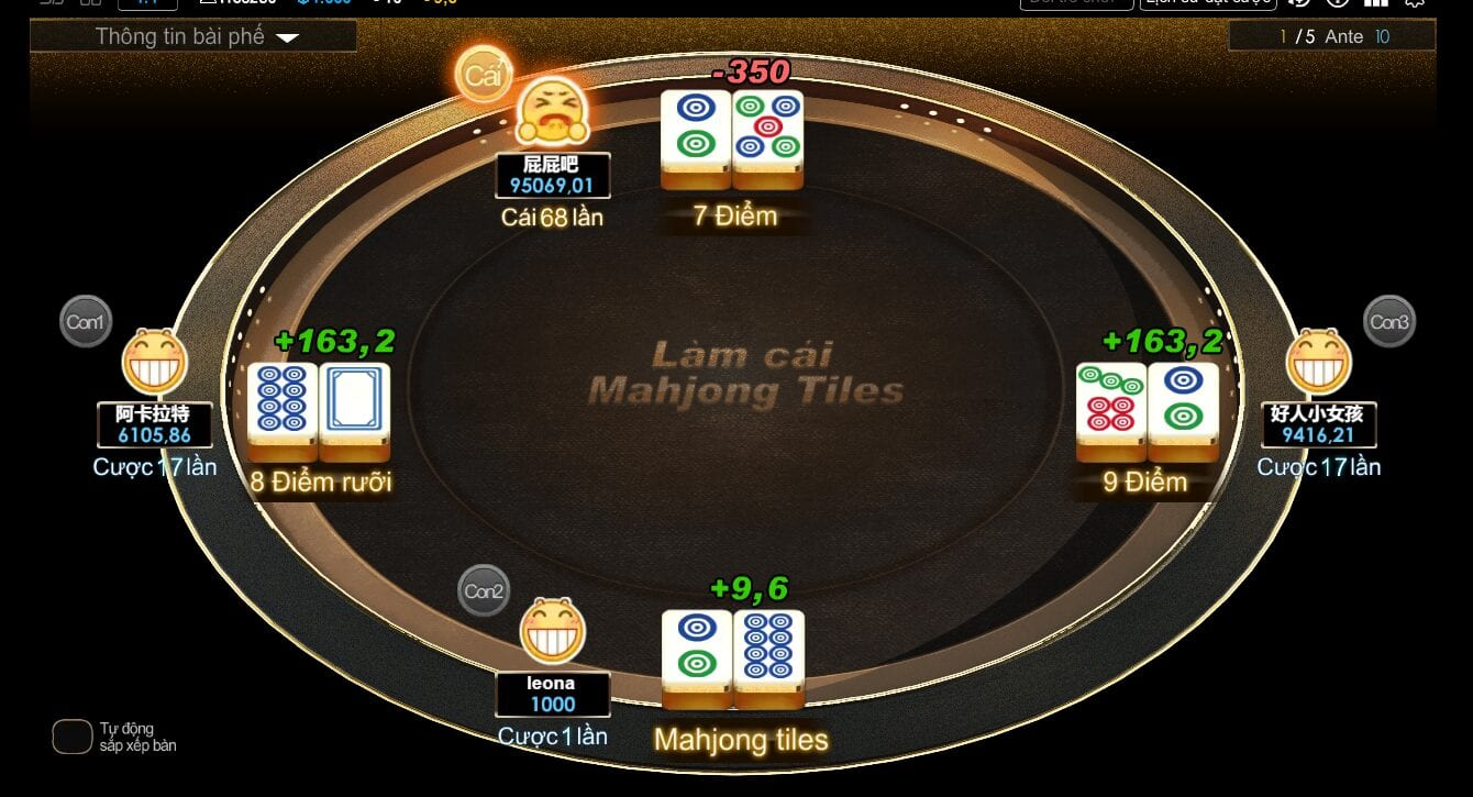 luat choi game mahjong tiles